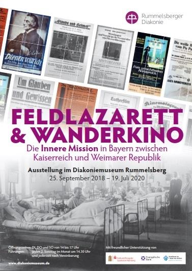 "Ausstellungsplakat ""Feldlazarett und Wanderkino"""